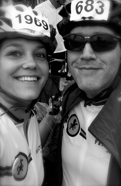 Jenni and Moi at the start