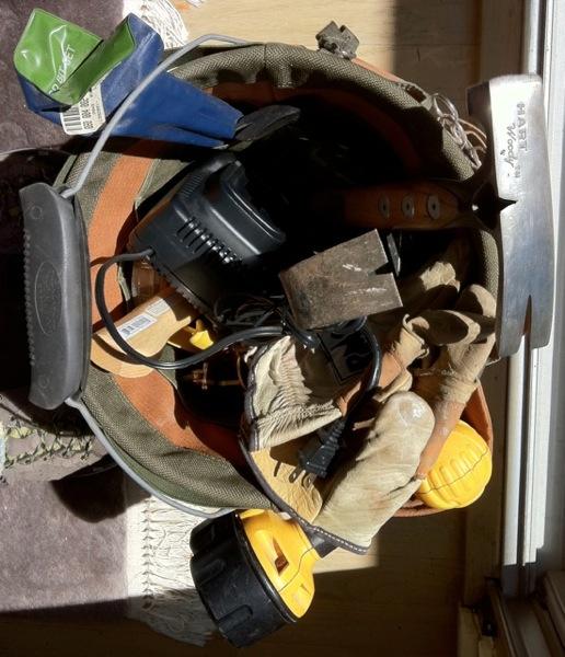 tools in bucket