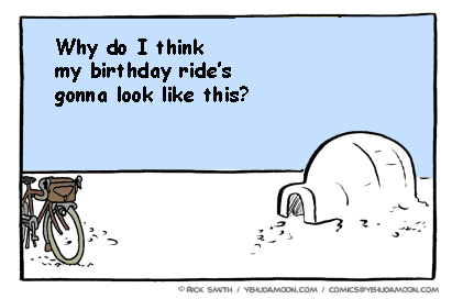 Birthday ride igloo