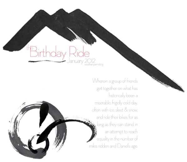 Small birthday ride 2012